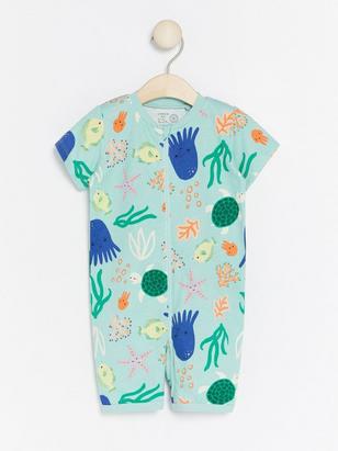 Pyjamas with Sea Creatures Turquoise