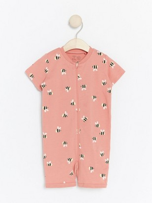 Pyžamo smotivem čmeláků Růžová