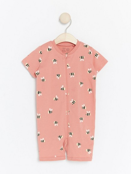 Pyjama, jossa kimalaisia Vaaleanpunainen