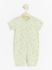 Lysegrønn pyjamas med istrykk Grønn