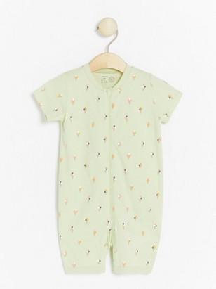 Light green pyjamas with ice cream print Green