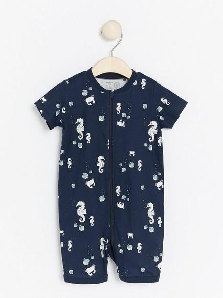 Pyjama, jossa vesielämiä Sininen