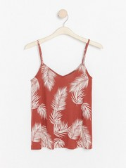 Patterned tank top in lyocell blend  Red