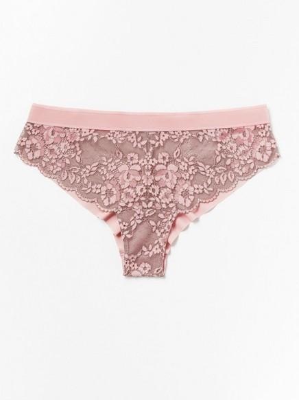 Brazilské kalhotky snízkým pasem Růžová