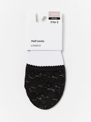 Lace Half Socks  Black