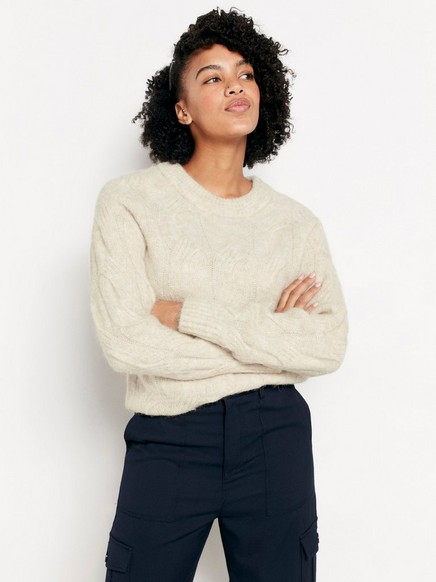 Cable Knit Jumper In Alpaca Blend by Lindex