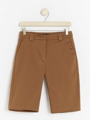 Slim fit shorts  Brown