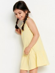 Dress with Flounce Yellow