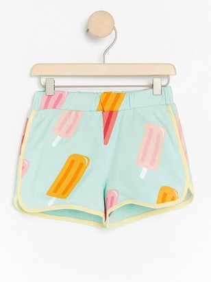 Jersey shorts with ice creams Turquoise