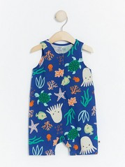 Jersey romper with sea creatures Blue