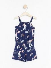 Jumpsuit with mermaid print Blue