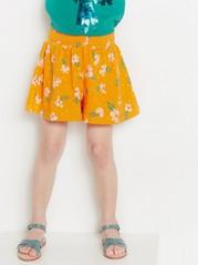 Patterned Jersey Shorts Orange