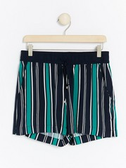 Patterned Viscose Shorts  Green