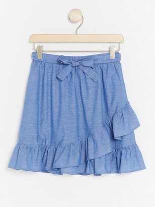 Chambray Skirt Blue