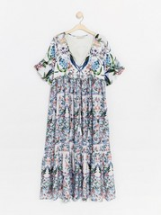 Floral maxi dress Lindex x By Malina  White