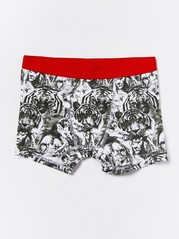 Boxer Shorts with Wild Animals Khaki