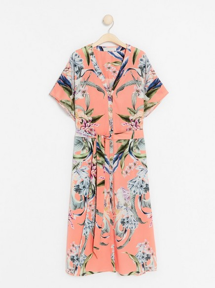 Mønstret kjole fra Lindex x By Malina Korall