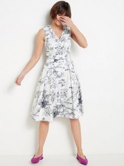 Patterned White Dress  White