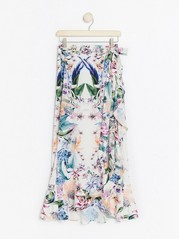 Floral wrap skirt Lindex x By Malina White
