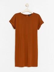 Šaty skrátkým rukávem Oranžová
