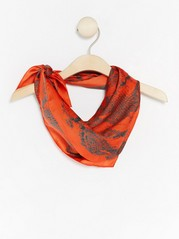 Patterned Satin Scarf  Orange