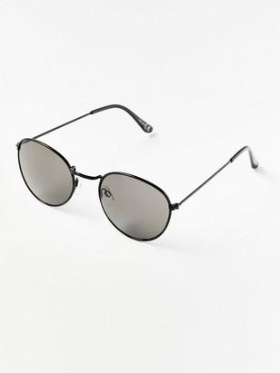 Kulaté letecké sluneční brýle Černá