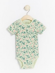 Floral patterned short sleeve bodysuit Green