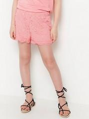 Shorts med spets Rosa