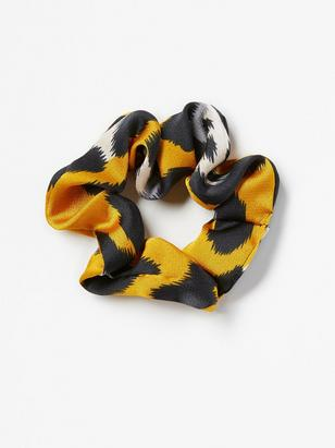 Patterned Scrunchie Yellow