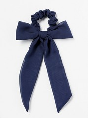 Scrunchie with Large Bow  Blue