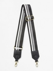 Striped Shoulder Strap for Bag  Black