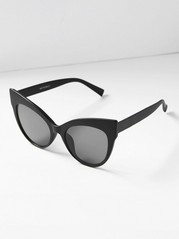 Matt Cat Eye Sunglasses  Black