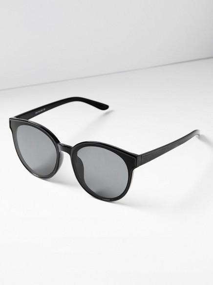 Runde solbriller Svart