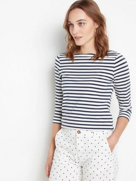 Lang shorts i bomull Hvit
