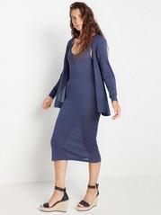 Set med klänning och kofta  Blå