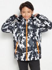 Patterned softshell jacket Black