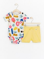Set with bodysuit and shorts Yellow