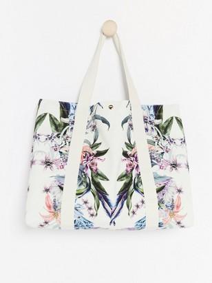 Květovaná taška Lindex x ByMalina Bílá