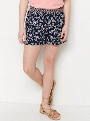 Paisley Patterned Shorts Blue