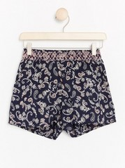 Paisley Patterned Shorts Blue