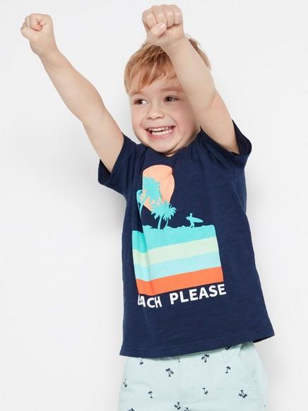 T-paita, jossa painatus Sininen