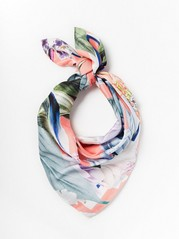 Patterned scarf Lindex x By Malina  Coral