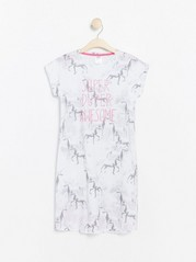 Nightdress with Horse Pattern Grey