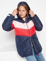 Colour block padded jacket  Blue