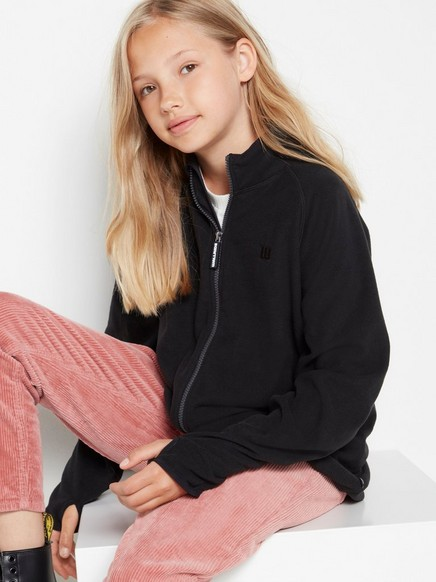 Fleece zip jacket Black