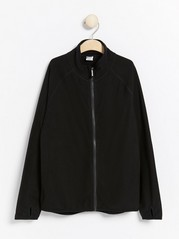 Fleece zip jacket Black
