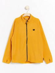 Fleece zip jacket Yellow