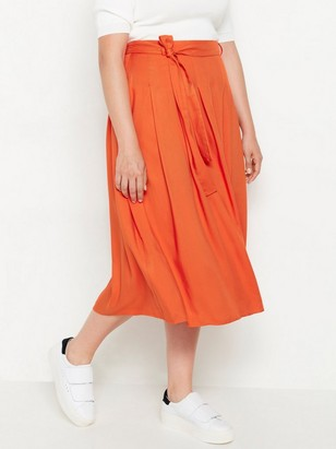 Oranžová sukně spáskem Oranžová