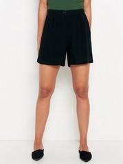 Viskózové šortky Černá