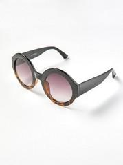 Large Round Sunglasses  Black